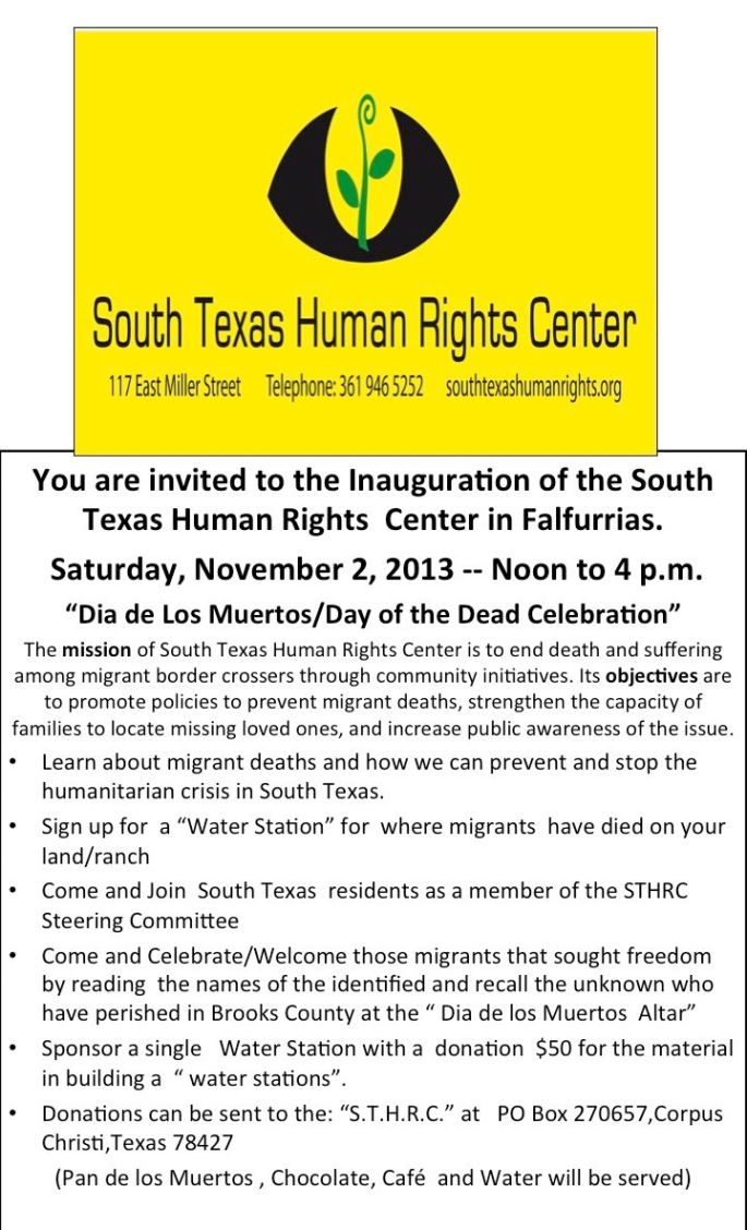 South Texas Human Rights Center in Falfurrias Opening Event
